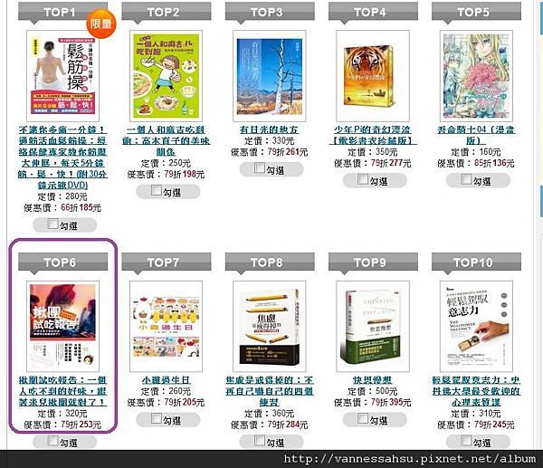 揪團試吃報告~博客來即時榜第6名20121218