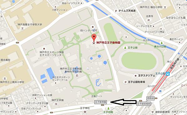王子動物園地圖