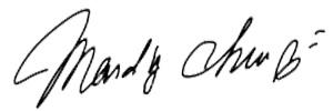 mandy 簽名