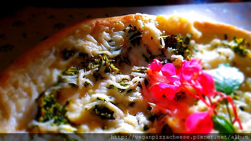 櫛瓜素食披薩