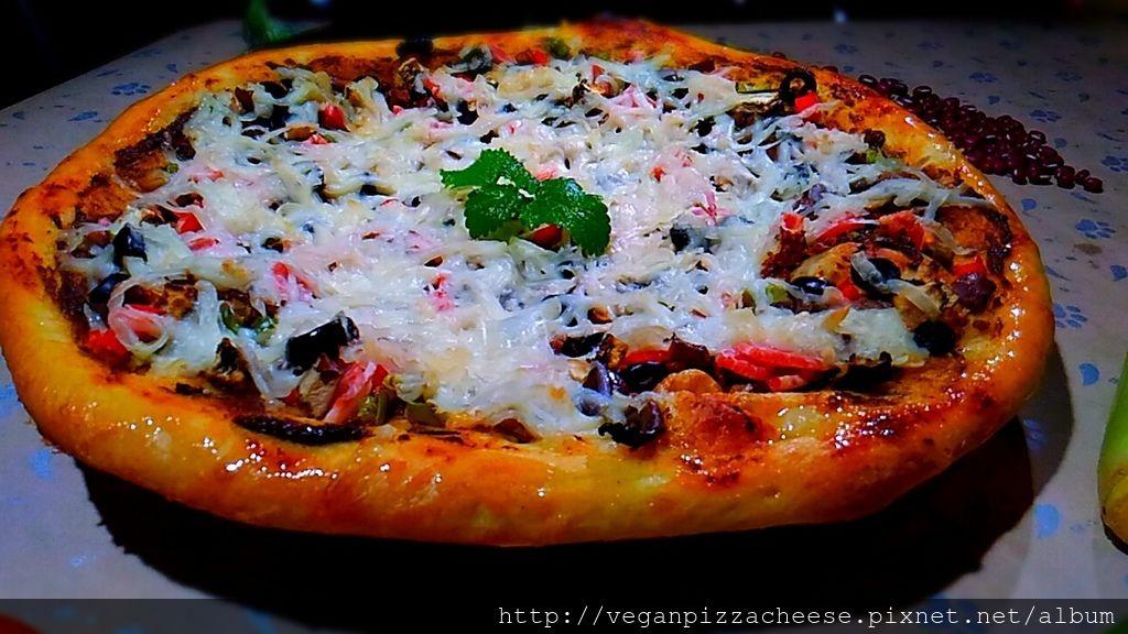鄉野田園純素披薩