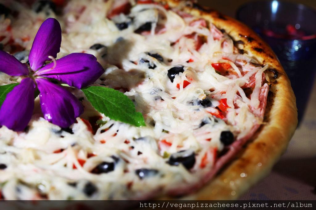 素食熱狗培根純素披薩