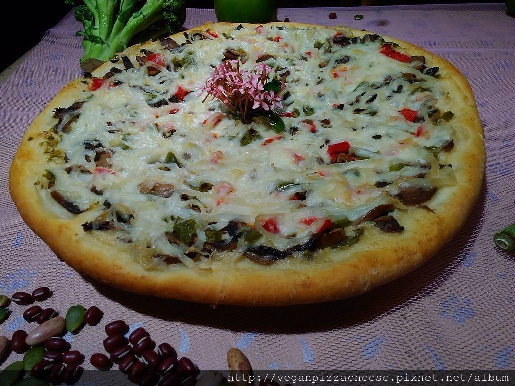墨西哥辣椒純素素食披薩