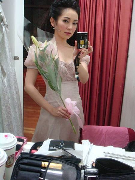 舞台設計送我的花!