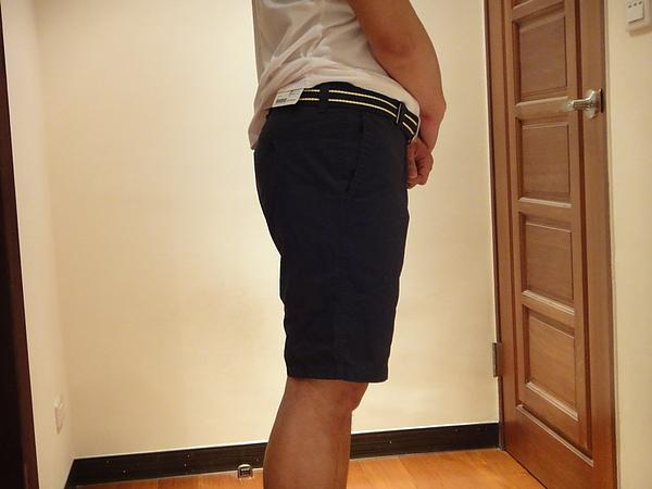 經典斜紋休閒短褲-男款( 深藍  )