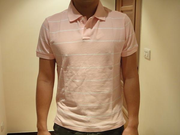 經典休閒條紋POLO衫-男款