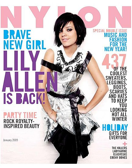Nylon Magazine January 2009 Lily Allen