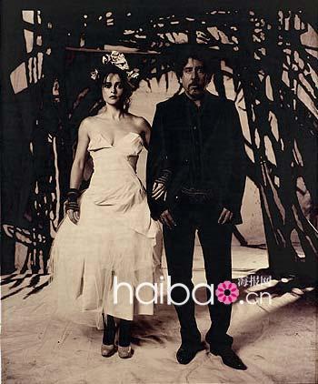 海倫娜•邦漢•卡特 (Helena Bonham-Carter) 和美國導演蒂姆•伯頓 (Tim Burton),兩人自2001年以後就結為伴侶,並有2個孩子.jpg