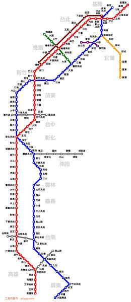 國道計程收費、交流道地圖