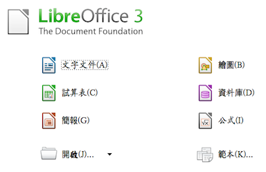 LibreOffice 免費文書處理軟體(像 OpenOffice)