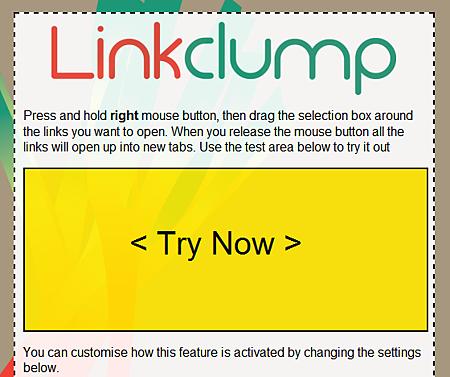 Linkclump 一次開啟網頁中的全部連結!