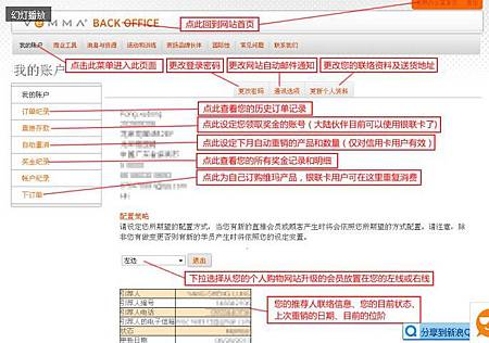 Vemma Back Office (簡稱VBO) 常用功能模組的介紹02