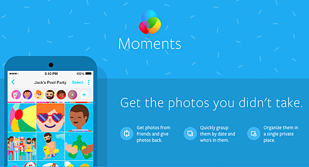 Facebook將於20160110關閉照片同步服務,並要求用戶下載 Moments App
