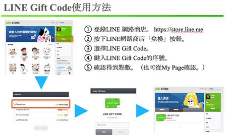 LINE Gift Code (電子禮券) 如何使用?如何兌換?