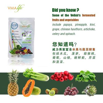 威力秀裡富含水果與蔬菜酵素
