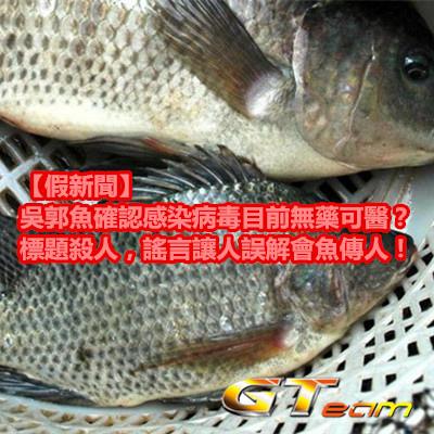 【假新聞】吳郭魚確認感染病毒目前無藥可醫?標題殺人,謠言讓人誤解會魚傳人!