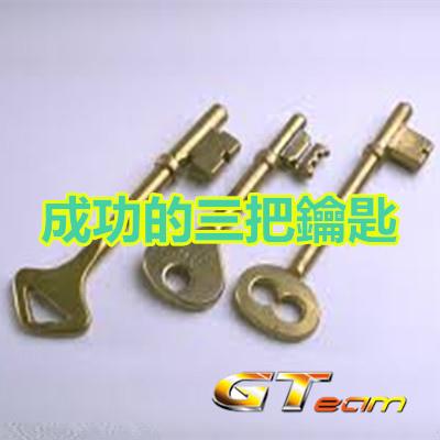 成功的三把鑰匙