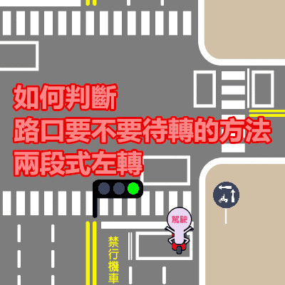 如何判斷路口要不要待轉的方法 兩段式左轉.jpg