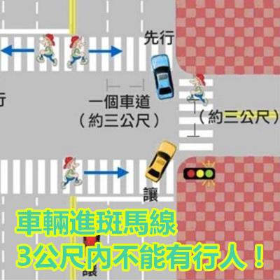車輛進斑馬線3公尺內不能有行人!.jpg