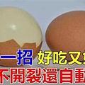 ♥ [影片分享] 煮雞蛋總是開裂?教你一招,雞蛋不開裂還自動脫殼,好吃又好剝.jpg