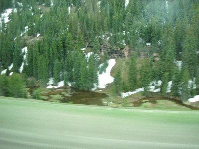 Rocky snow