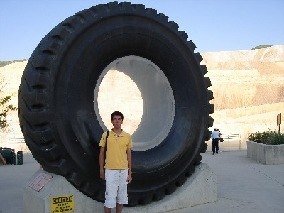 Bingham Copper Mine tire