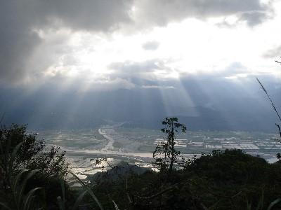 玉里北部農田-赤柯山眺望
