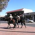 市區裡的騎警