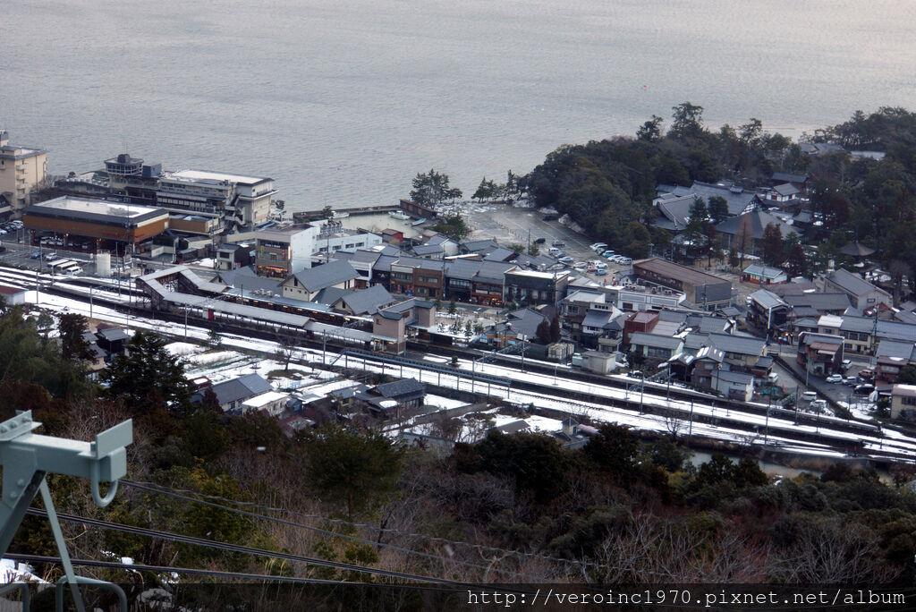 俯視天橋立站