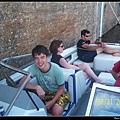 Ellis driving boat