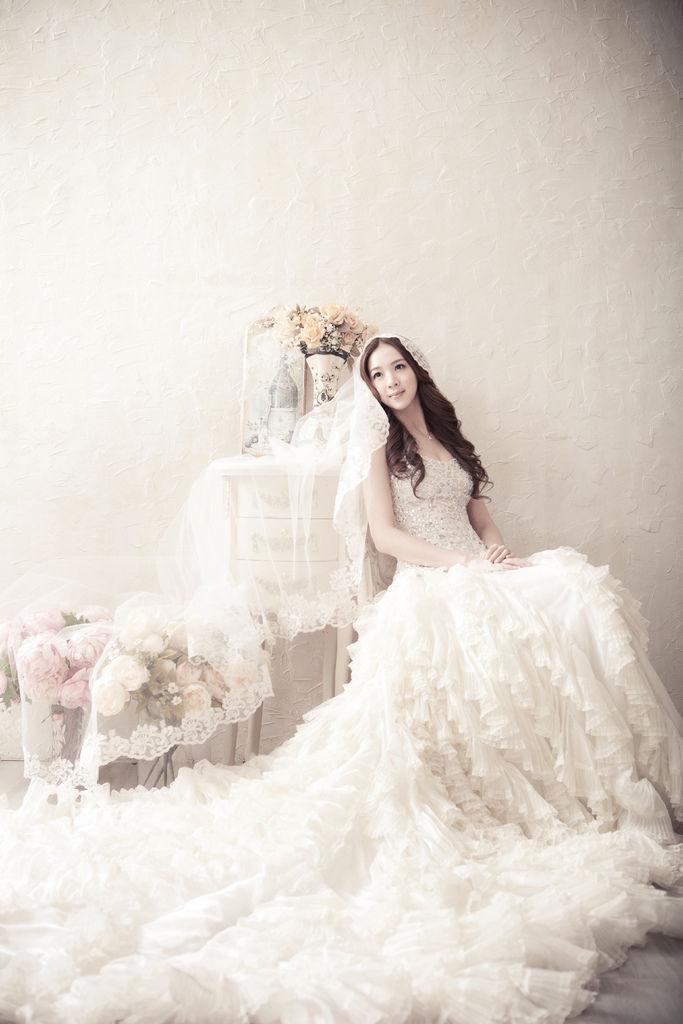 復古蕾絲頭紗@曼哈頓白色攝影棚