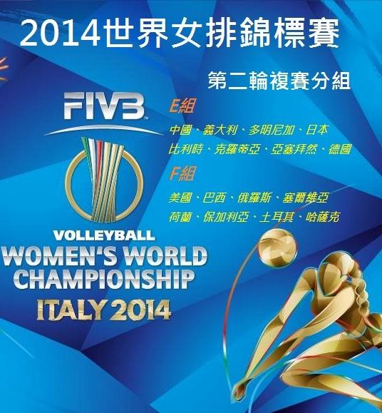 2014世界女排錦標賽第二輪LOGO