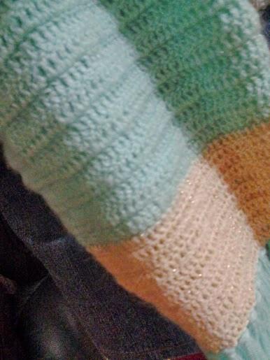 圍巾花樣示意圖