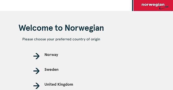 挪威航空訂票 001