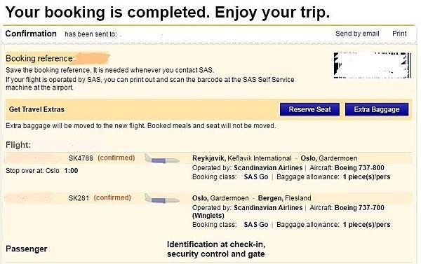 SAS 訂機票 008