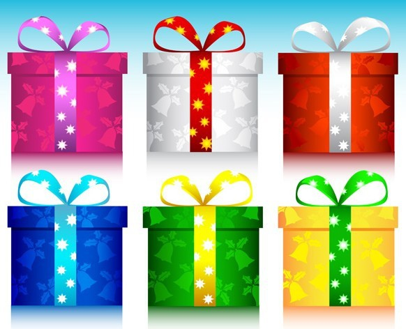 6-Colors-Christmas-Gift-Boxes-with-Ribbon-Bows-Vector