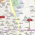 仁寺洞花園茶院地圖(韓)
