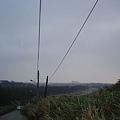 往麟山鼻漁港的下坡路