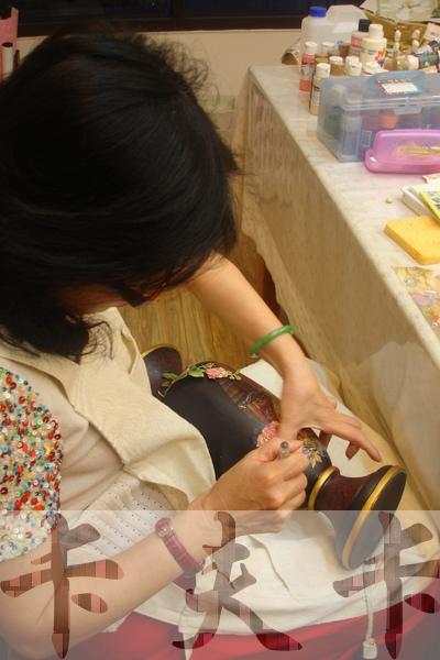 拼貼Decoupage蝶古巴特-卡夫卡拼貼彩繪藝術彩繪商品製作過程11.jpg