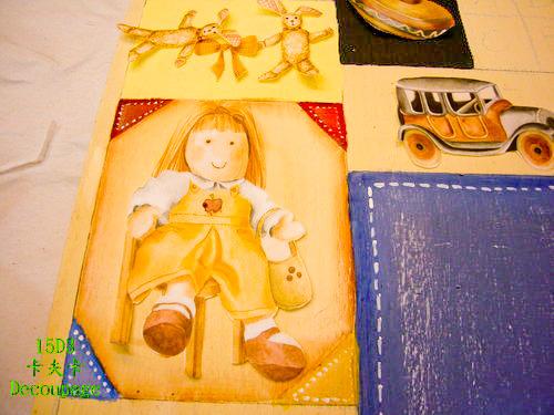 拼貼Decoupage蝶古巴特-卡夫卡拼貼彩繪藝術彩繪商品-美式風格鑰匙箱製作過程1.jpg