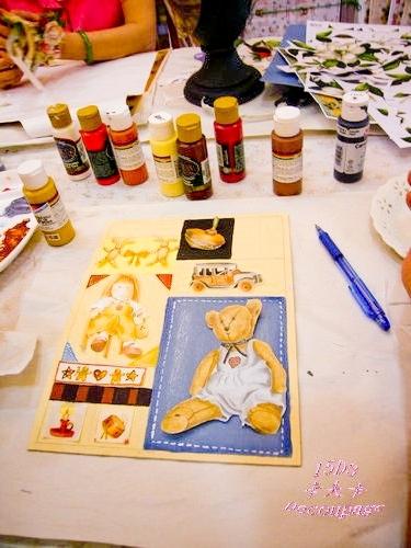 拼貼Decoupage蝶古巴特-卡夫卡拼貼彩繪藝術彩繪商品-美式風格鑰匙箱製作過程4.jpg
