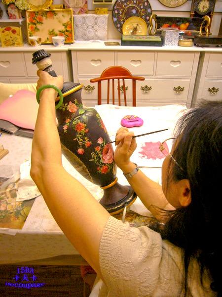 拼貼Decoupage蝶古巴特-卡夫卡拼貼彩繪藝術彩繪商品製作過程14.jpg