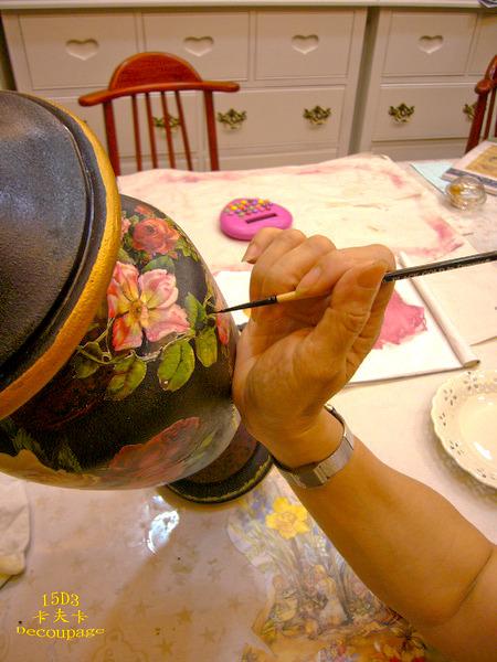 拼貼Decoupage蝶古巴特-卡夫卡拼貼彩繪藝術彩繪商品製作過程13.jpg