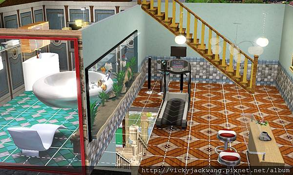二樓浴室及酒吧檯