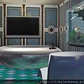 特大的2F大浴室,按照雙人浴缸及電視,SAP椅~