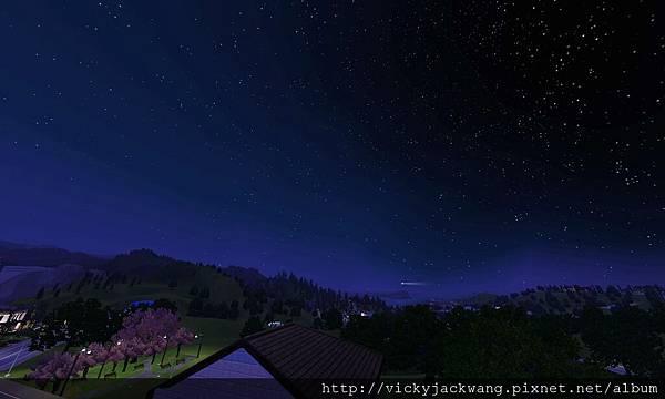 從笛諾家屋簷仰望滿天星斗