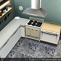 簡單開放式廚房