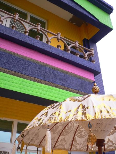 民宿房間外面的小陽台