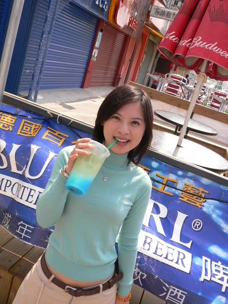 這杯「碧海藍天」在南台灣喝很對味~!!