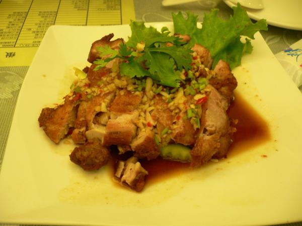 晚餐的泰國菜-椒麻雞